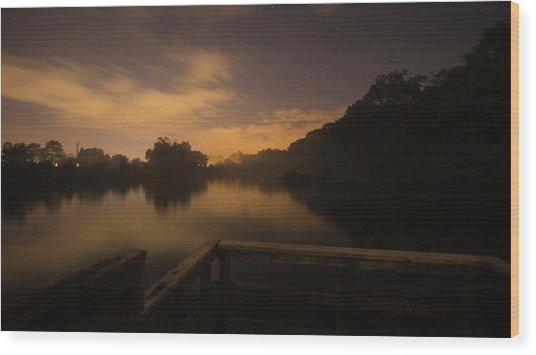 Moody View Wood Print