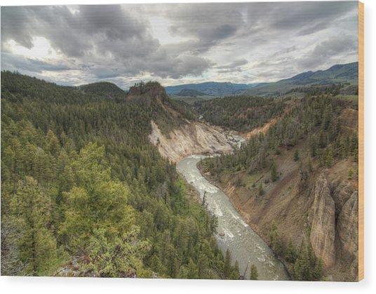 Moody Yellowstone Wood Print