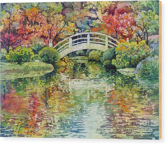 Moon Bridge Wood Print