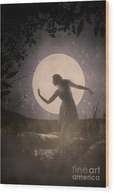 Moon Dance 001 Wood Print
