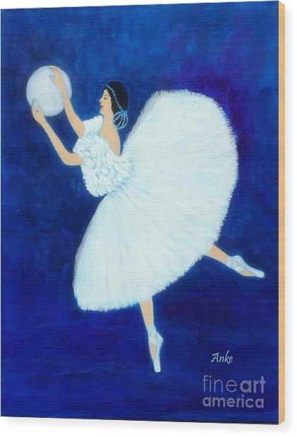 Moon Dancer Wood Print by Anke Wheeler