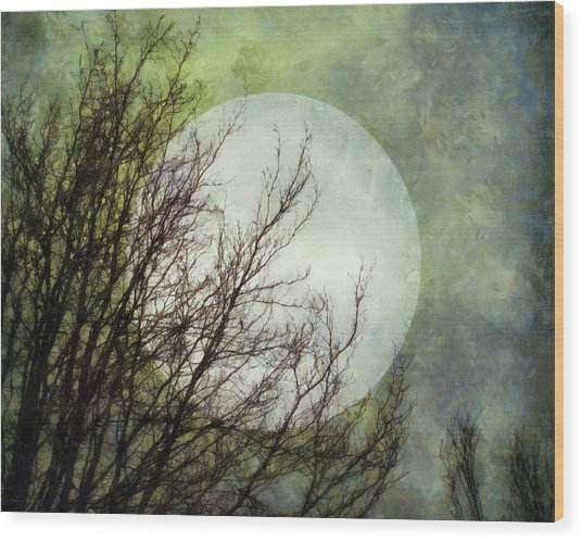 Moon Dream Wood Print
