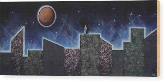 Moon Eclipse Wood Print
