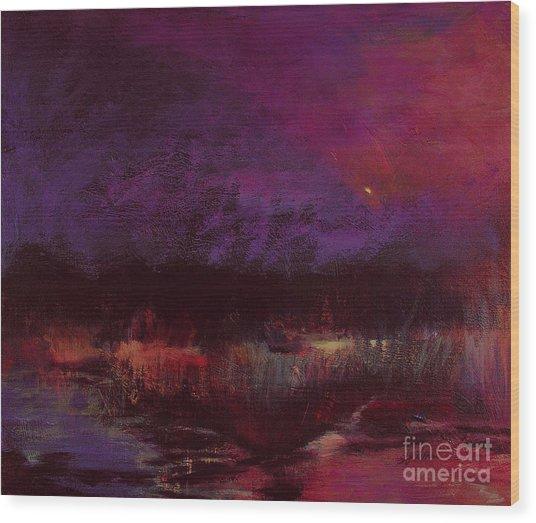 Moon Glow 5-6-11 Julianne Felton Wood Print