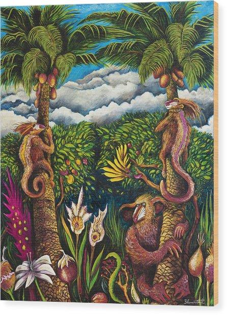 Moon Junga Wood Print