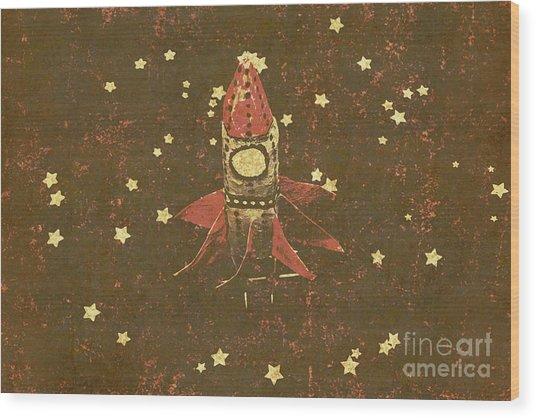 Moon Landings And Childhood Memories Wood Print