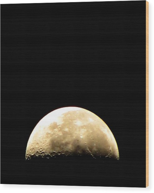 Moon Loop Wood Print