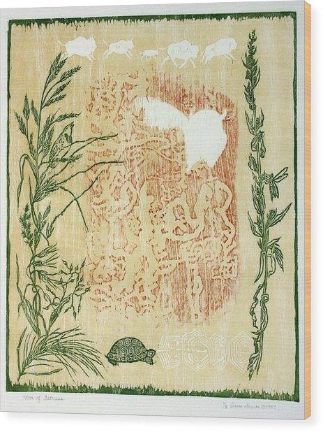Moon Of Fatness Wood Print