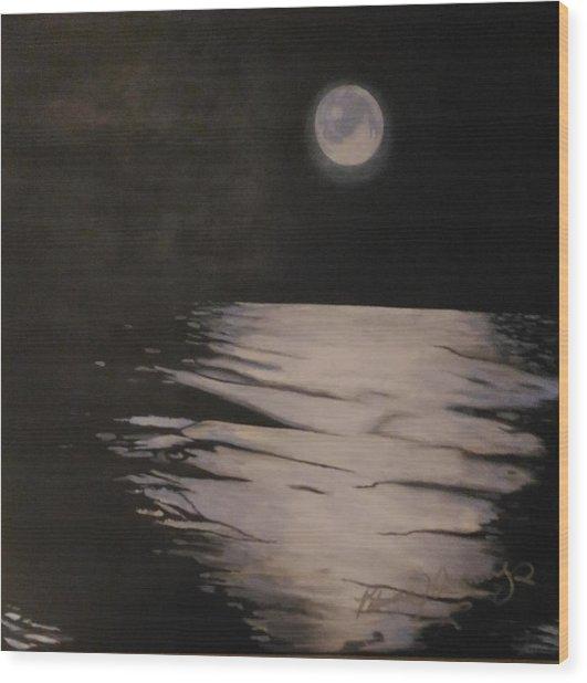 Moon Over The Wedge Wood Print