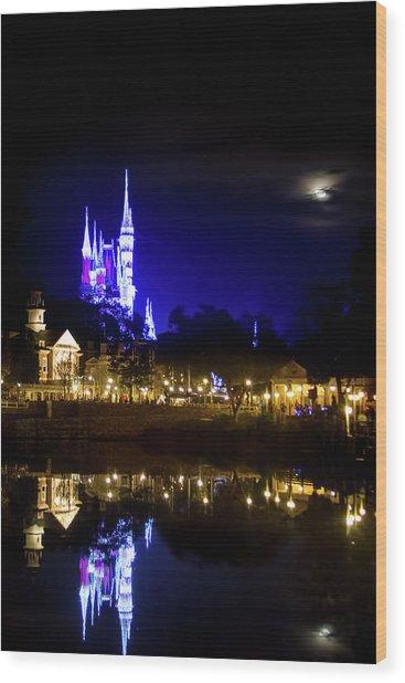Moon Over Magic Wood Print