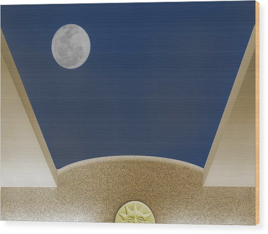Moon Roof Wood Print