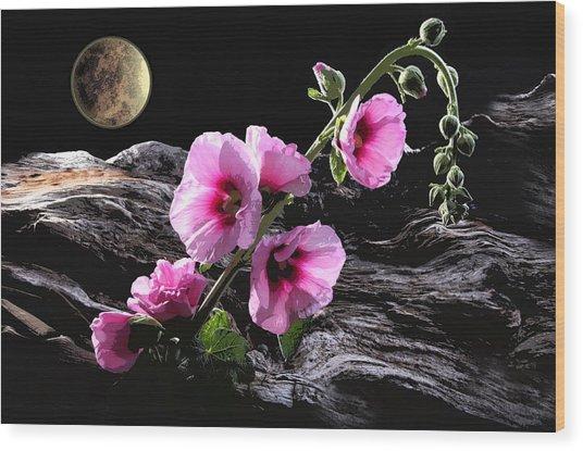 Moon Scape Wood Print