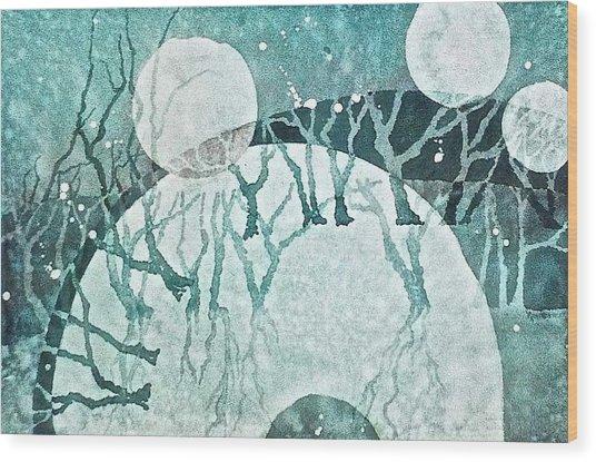 Moon Shadows Wood Print