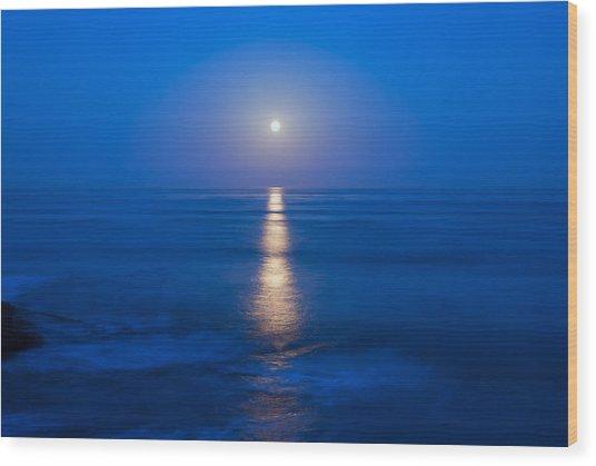 Moon Shine Wood Print