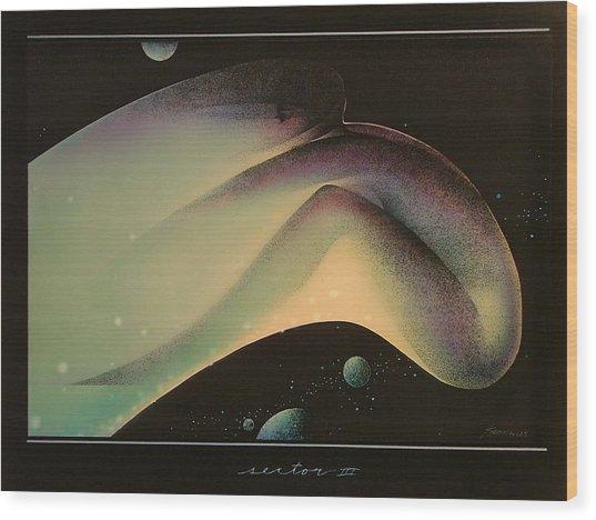 Moon Shot Wood Print by Gary Kaemmer
