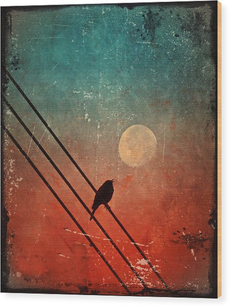 Moon Talk Wood Print