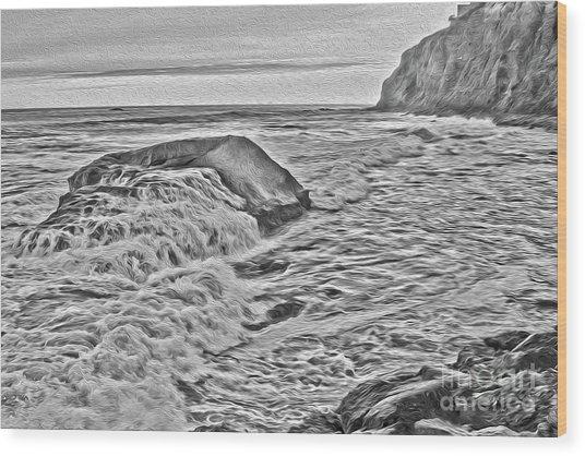 Moon Tides Wood Print