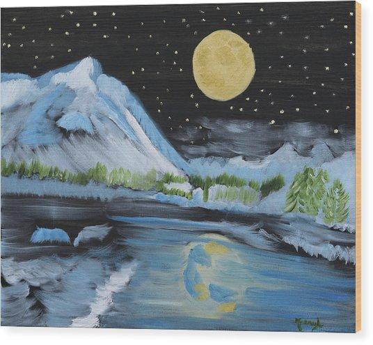 Moon Wishes Wood Print