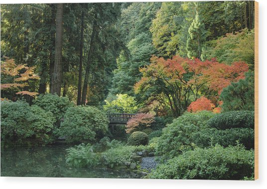 Moonbridge Autumn Serenade Wood Print