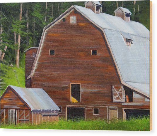 Mooney's Barn Wood Print
