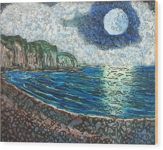 Moonlight In Pourvill Wood Print