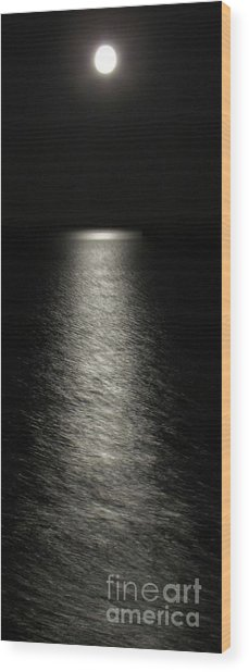 Moonlight Reflection Wood Print