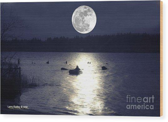 Moonlight Row Wood Print