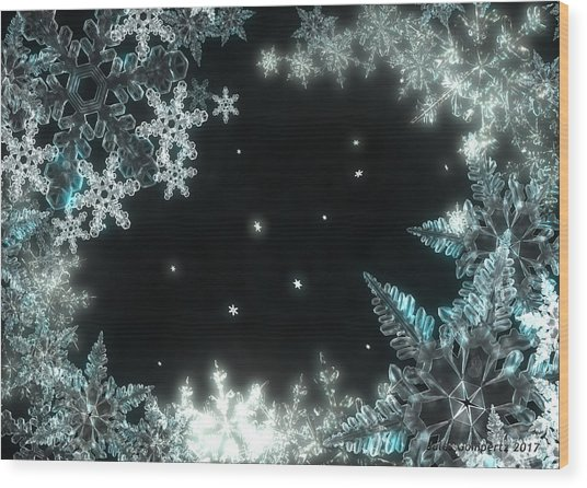Moonlight Snow Burial Wood Print
