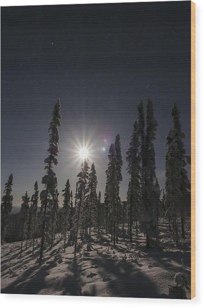 Moonlight Sonana Wood Print