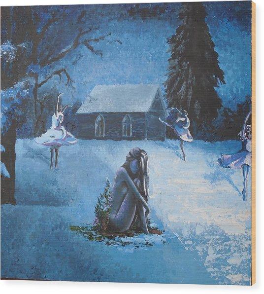 Moonlit Dream Wood Print by Julia Ranson
