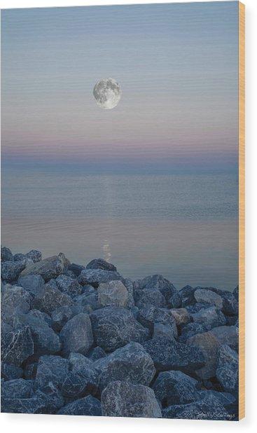 Moonlit Twilight Wood Print