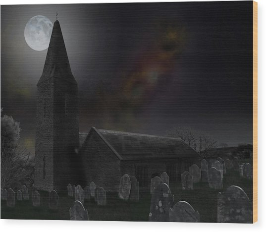 Moonrise At St Germanus Wood Print