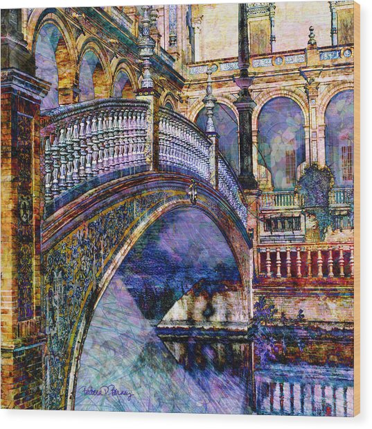 Moorish Bridge Wood Print