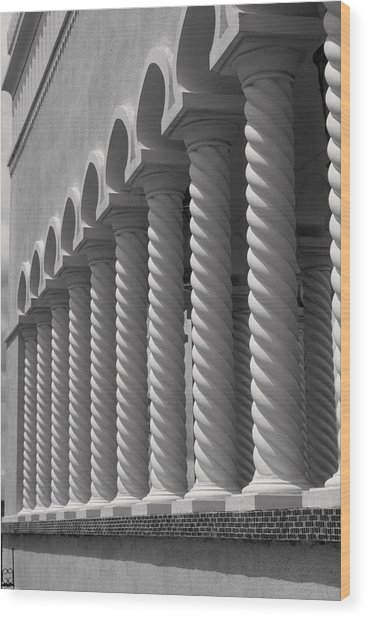Moorish Pillars Spain Wood Print by Douglas Pike