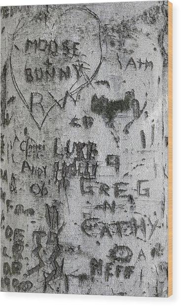 Moose And Bunny Wood Print