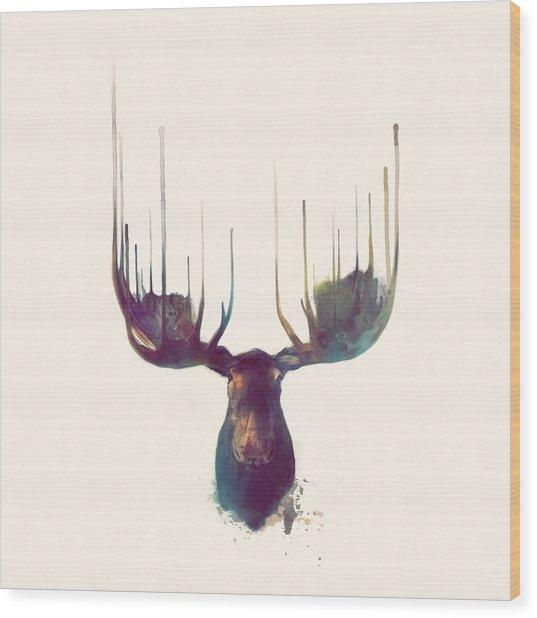 Moose // Squared Format Wood Print
