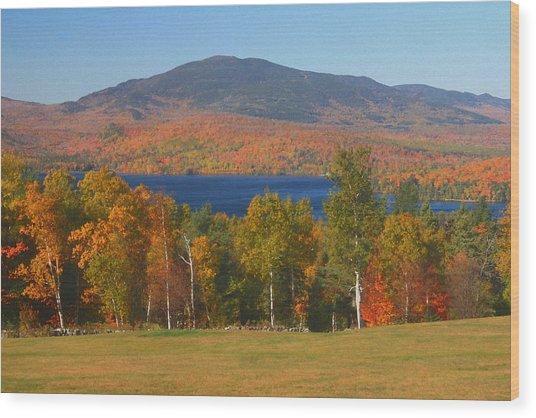 Moosehead Lake In Autumn Wood Print