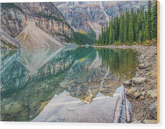 Wood Print featuring the photograph Moraine Lake 2009 04 by Jim Dollar