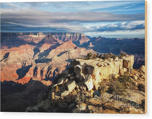 Wood Print featuring the photograph Moran Point 2 by Scott Kemper