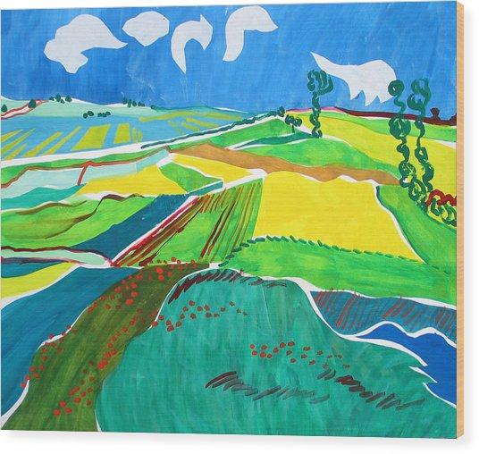 Moravian Landscape Wood Print by Vitali Komarov