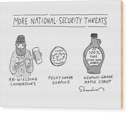 More National-security Threats Wood Print