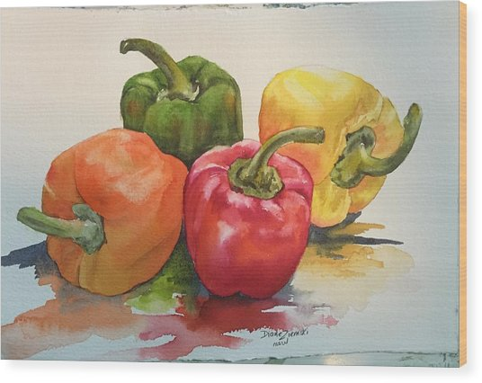 More Peppers Wood Print
