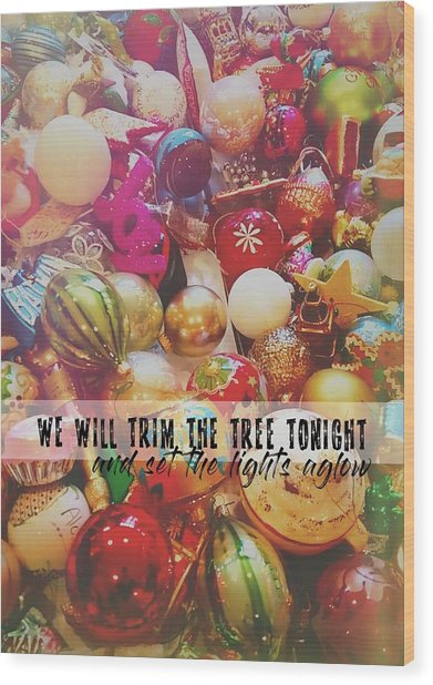 More Sparkle Quote Wood Print by JAMART Photography