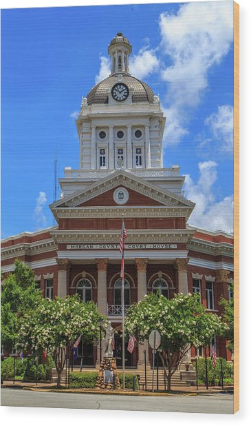 Morgan County Court House Wood Print
