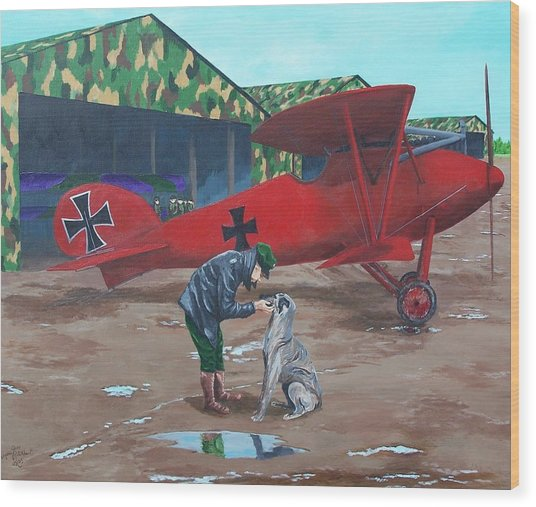 Moritz And Richthofen Wood Print by Gene Ritchhart