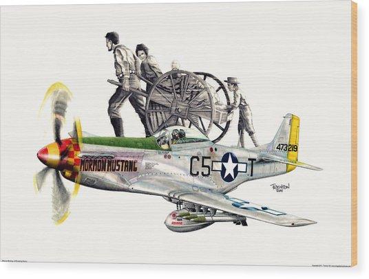 Mormon Mustang - Pioneering History Wood Print by Trenton Hill