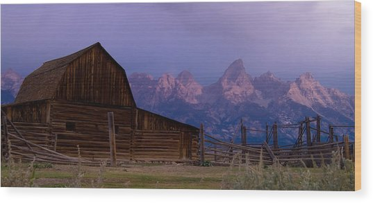 Mormon Village Wood Print