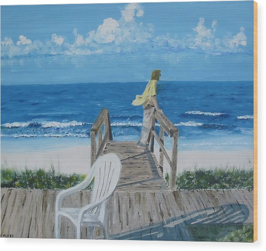 Morning At Blue Mountain Beach Wood Print by John Terry
