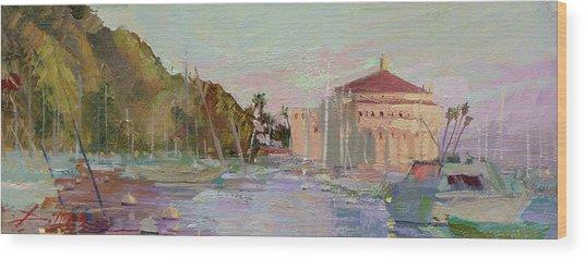 Morning Avalon Harbor - Catalina Island Wood Print