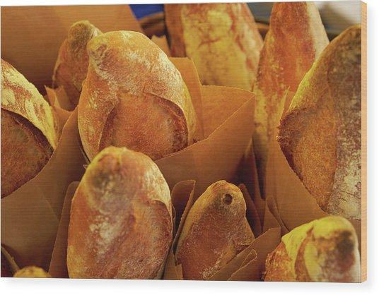 Morning Bread Wood Print